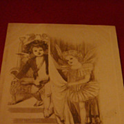 """Adorable Fairy Angels """"To My Sweet Valentine"""" Early 1900's Black & White Postcard"""