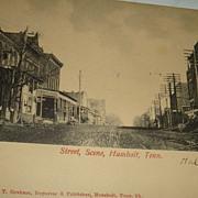 Early Postcard Street Scene Humbolt, Tennessee German - Horse Drawn Wagon