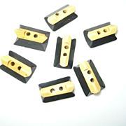 Group of 7 Bakelite Black/Cream Buttons