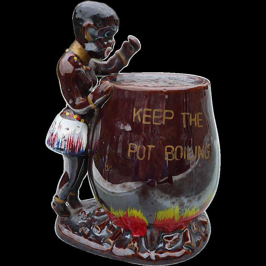 Black Americana Ceramic Bank