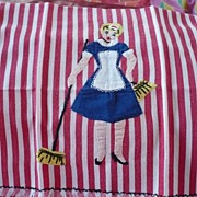 Stripe Applique Dish Towel