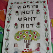 Waste Not Want Not Embroidered Towel