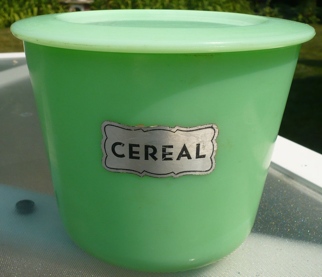 McKee Jadite Cereal Bowl Cannister with Lid