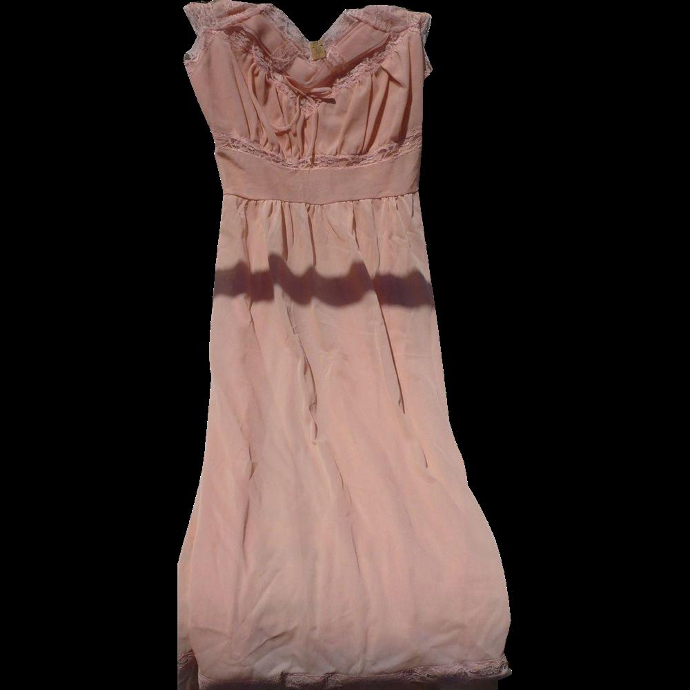 Vintage Nylon Nightgown Dress Style