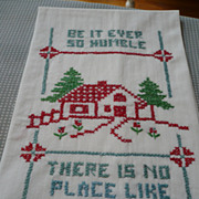 Home Sweet Home Embroidered Towel