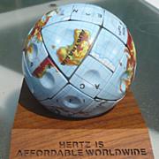 Hertz Globe Puzzle Ball Advertising
