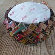 Folk Art Folded Paper Pin Cushion