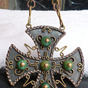 Maya Copper Pendant on Chain
