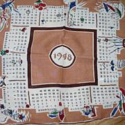 1948 Calendar Handkerchief