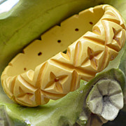 Deep Carved Cream Bakelite Bracelet