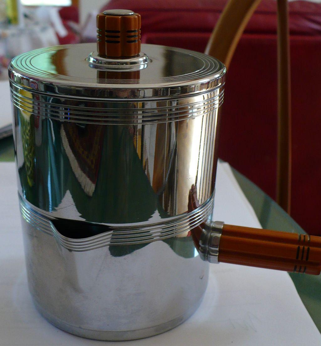 Farberware Stainless Bakelite Handle Creamer & Sugar