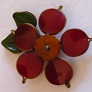 Bakelite Flower Clip