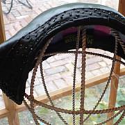 Vintage Black Satin Beaded Hat