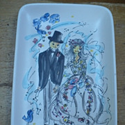 Vintage Bridal Ashtray