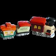 Four Piece Train Salt Pepper Condiment Set