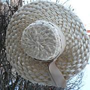 Wide Brim Natural Ladies Straw Hat