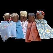 Folk Art Wood Puppets