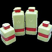 1930's Oil Vinegar Salt Pepper Set