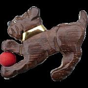 Wood Dog Pin with Ball