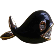 Panetta Enamel Whale Pin