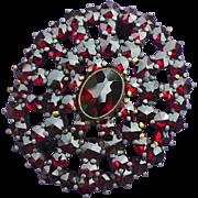 Garnet Bohemian Pin