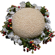 Straw Hat with Berries