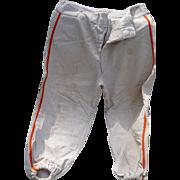 Stripe Wool Baseball Pants