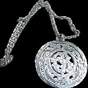 Sterling Medallion Necklace