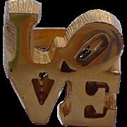 Love Ring Robert Indiana