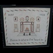 Home Framed Sampler 1929