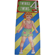 Twinkle Twins 4 Years Old Cutout Dolls