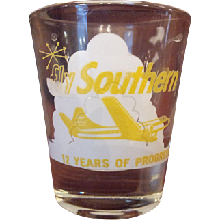 Vintage Southern Airways Shot Glasses 11th and 12th Years