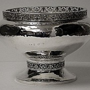 A.E.Jones Arts and Crafts Silver Bowl, Birmingham 1920