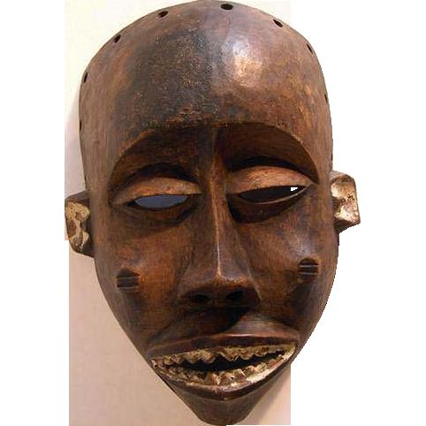 Chokwe Tribally used Mwana Pwo Mask,  Bandundu, Zaire