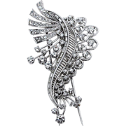 Impressive Diamond Brooch - Platinum