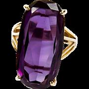 30 Carat Amethyst Ring, 14K -  Mid Century