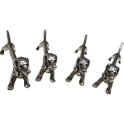Art Deco Sterling  Dachshund Knife Rests