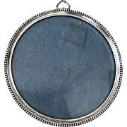 Classic and Elegant Round Sterling Silver Picture Frame