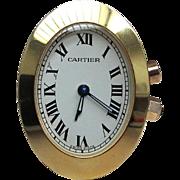 CARTIER Miniature Travel Clock - Circa 1970