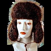 ALASKAN BEAVER Skiing/Hunter's Hat with Ear Flaps