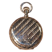 1895 ELGIN 7-Jewel Pocket Watch -  Lady's Fancy 14K GF Hunter Case