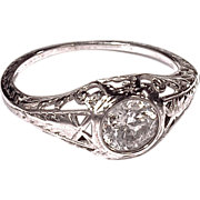 DIAMOND RING - Platinum Filigree