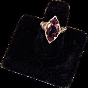 AMETHYST RING - White Gold Filigree Setting
