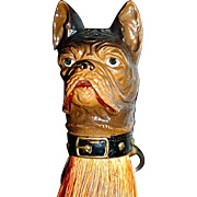 French Bulldog/Boston Terrier Composition Clothes Brush/Whisk Broom/Shoulder Brush - Half-Doll Brush