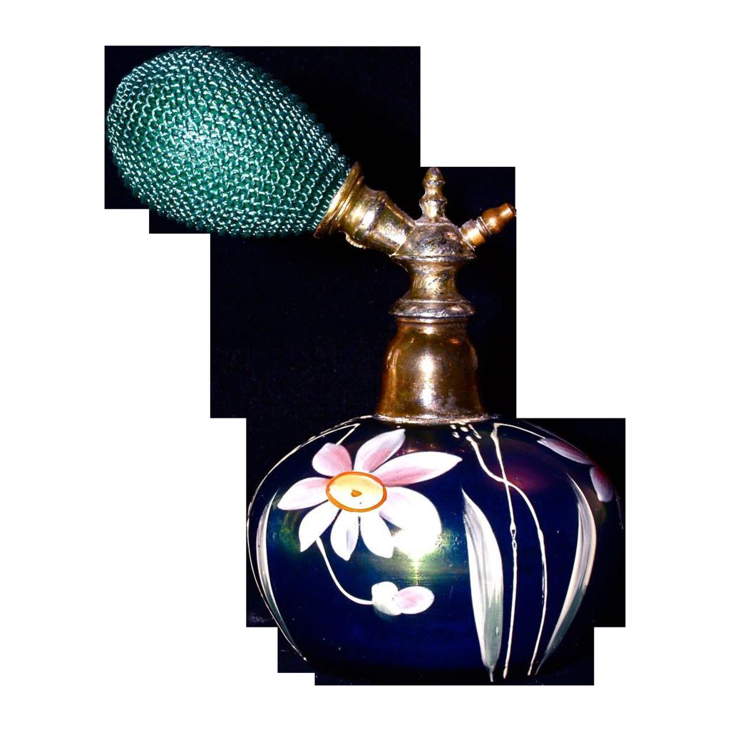 LOETZ  Hand Painted Perfume Atomizer - Austrian