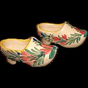 HB Faiencerie Stanniferous (tin-enameled) Glaze Pottery Shoes/Clogs