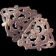 BIRMINGHAM 1901 - Antique Sterling Belt Buckle