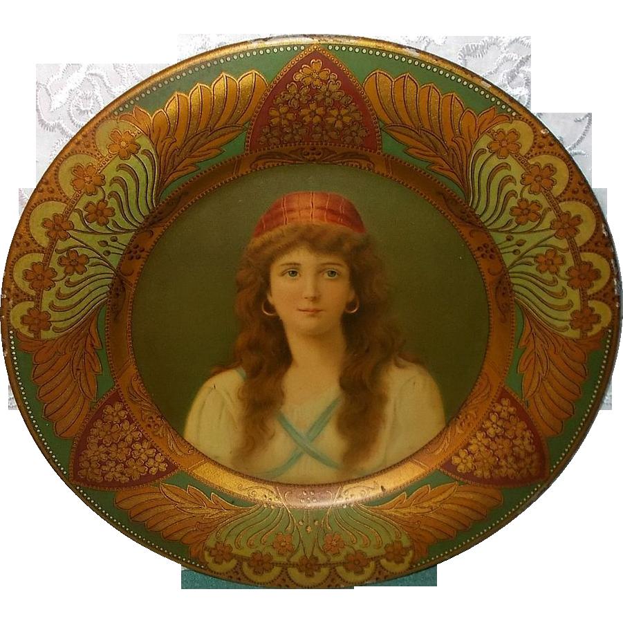 Vienna Art Plate of Irene - Charles Shonk 1907 - Royal Saxony
