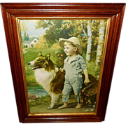 Large Vintage Print of The Barefoot Boy by R. Atkinson Fox