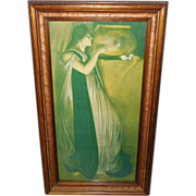 Isabella and the Pot of Basil - Gold Wood Frame